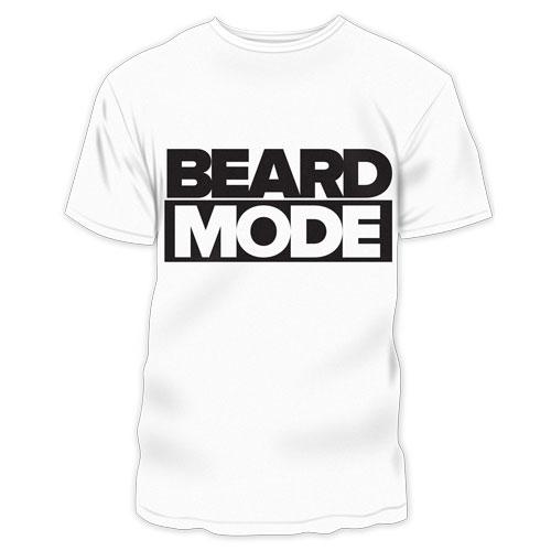 Beard Mode TShirt Boxed - white