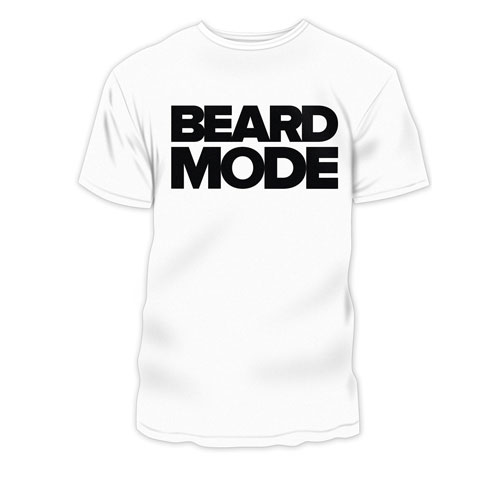 Beard Mode TShirt - white
